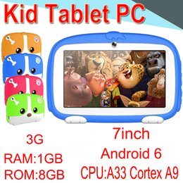 2018 Дети Марка Tablet PC 7-дюймовый четырехъядерный дети Tablet Android 6 Allwinner A33 Player 1 8 GB 512 8G WiFi динамик защитная крышка XPB-3 от