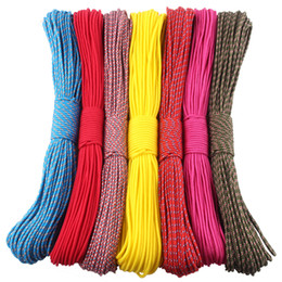 Wholesale Diy Survival - 50FT 3mm Paracord 33 color Parachute cord Rope 1 Strand Paracorde Outdoor Survival Equipment Clothes line DIY Paracord Bracelet