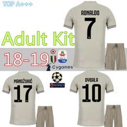 18 19 AWAY DYBALA Ronaldo D.COSTA soccer Jersey kit HIGUAIN 2018 2019  juventusing soccer jerseys shirts uniforms best quality Free patch 42203b672