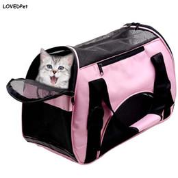 Wholesale soft dog backpacks - Breathable soft packs carrier for dogs basket pet carriers traveling handbag shoulder small dog transport outdoor bag cat-carrying backpack