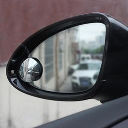 2019 vw cc fibre de carbone 2018 Universal Car miroir grand angle rond convexe angle mort miroir miroir pour parking vue arrière miroir ombre de pluie accessoires auto