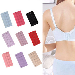f23ab872fd dark pink bra Canada - Stainless Steel Elastic Bra Extender 3 Row 5 Hooks  Extension Button