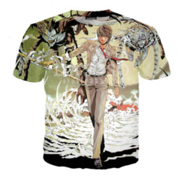 Death note shirts online-Sommer Stil Neueste Mode Herren / Frauen Anime Death Notes Lustige 3D Print Casual T-Shirt ABCQ00162