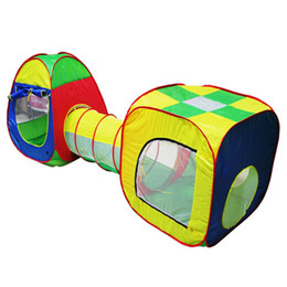 Wholesale Kids Pop Up Play - Cubby-Tube-Teepee 3pc Pop-up Play Tent Children Tunnel Kids Adventure House