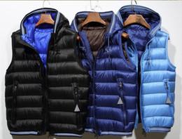 Chaleco de invierno con capucha online-Hombres de la marca French Warmer anorak gilets invierno con capucha chaleco de alta calidad caliente más tamaño hombre abajo chaleco