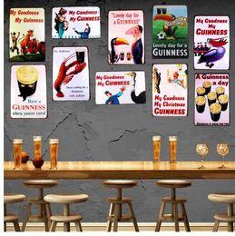 Cuadros pittura online-My Goodness My Guinness Metal Painting Retro Targa in metallo Wall Bar Home Artigianato Art Decor Cuadros 30X20CM DU-1001