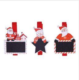 6 Pcs 4.8 cm Père Noël Bois Clips Photos Images Clips Pendentif Décorations de Noël pour la Maison de Fête de Vacances Fournitures ? partir de fabricateur