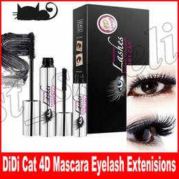 Wholesale mascara dhl - Hot DiDi Cat 4D Mascara DIDI Cat Lashes Eyelash Extenisions With Fiber DDK Mascara DHL Free