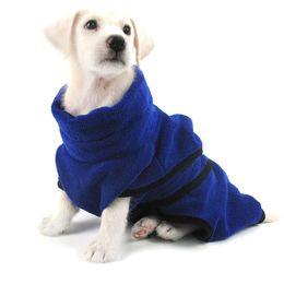 Wholesale golden towel - Dog Bathrobe Warm Dog Clothes Super Absorbent Drying Towel for Golden Teddy Blue Bath Towel Pet Supplies XS-XL