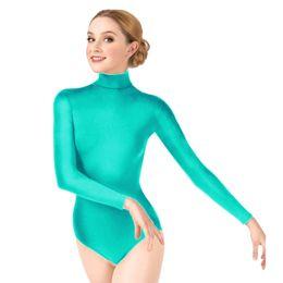 las mujeres leotard manga larga Rebajas Ensnovo Mujeres Gimnasia Leotardo Ballet Dancewear Lycra Leotardo Ballet Mujer Dancewear Manga Larga Señora Bodysuit