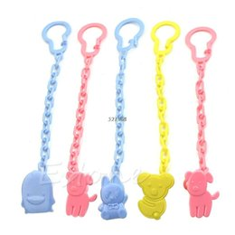Wholesale Dummy Hands - New Baby Pacifier Clip Pacifier Chain Hand Made Funny Colourful Beads Dummy Clip Baby Soother Holder For Kid A38556