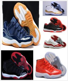Wholesale chocolate box pvc - Without Box shoes 11 Gym Red Chicago Midnight Navy WIN LIKE 82 UNC Space Jam 45 Mens Basketball Shoes 11s Athletic Sport Sneakers