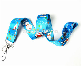 Argentina 200 PCS Doraemon key lanyards id badge holder llavero correas para teléfono móvil Envío Gratis cheap doraemon phones Suministro