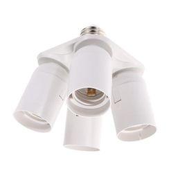 Wholesale lamp socket splitter - LumiParty 4 E27 Base Sockets in 1 Splitter Light Lamp Bulb Adapter Holder Practical Lamp Base