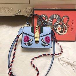 Wholesale Navy Bow Ties - 2018 Luxury designer New guccx printing PU handbags girl shoulder bags teenager handbag Waterproof purse wallet lady Navy bag 180127010