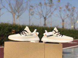 Wholesale Cream Socks - Kanye West Boost 350 V2 BASF Running Shoe TOP Quality Shoes Men Women Boost V2 Sneakers Grey Orange Shoe With Box,receipt,Socks