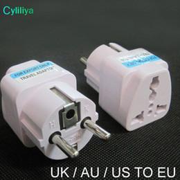 2019 chargeur 4.5v Adaptateur de prise électrique universel de prise d'alimentation ca de 2 broches chargeur de voyage UK / US / AU vers prise d'adaptateur de prise UE