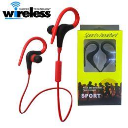 Wholesale headphone sport fashion - Sport Earhook Earbuds Bluetooth 4.1 headphone running and training wireless headset in ear&hook bluetooth fashion earphones