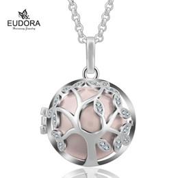 Подвесной шарик онлайн-K187N Crystal Family Tree of Life Cage Birthday Gift for Mom Baby Angel Caller Pendant Mexican Bola Eudora Harmony Ball