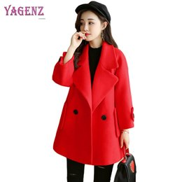 Wholesale Korean Women Xs Wool Coat - Winter Korean Version Women Short Wool Jacket 2018 Warm Solid Color Loose High Quality Wool Coat Thicken Cloak Warm Overcoat B92