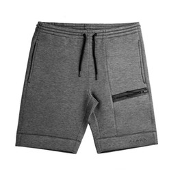 jogging pants zipper Promo Codes - New Arrival Fitness Shorts Sports Running Shorts Men  Cotton Zipper Joggers Jogging Sweatpants gym shorts men Workout Short Pant
