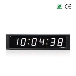 timer remoto digitale Sconti Orologio da 1 pollici Display a 6 cifre per interni con orologio a distanza con timer per il conto alla rovescia in orologio da parete digitale a tubo bianco