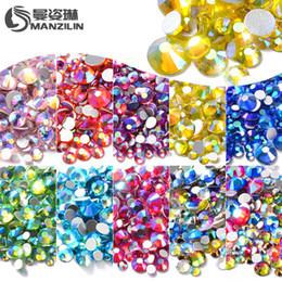 2019 блестящие очки Mixed Size AB Colorful Crystal Nail Art Rhinestones Non Hotfix Flatback Glasses Stones 3d Nail Glitter Decorations Gems Decors скидка блестящие очки