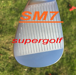 Wholesale 52 Degree Wedge - 2018 OEM quality golf wedges SM7 wedges silver grey black 50 52 54 56 58 60 degree with original SM7 grooves 3pcs golf clubs