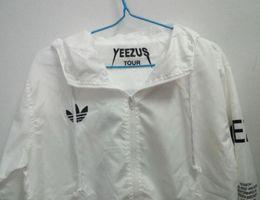 chaqueta de viaje yeezus Rebajas KANYE Chaqueta Hombres KANYE Chaqueta cortavientos Hip Hop TOUR 3 Chaquetas Hombres Mujeres Ropa de calle Moda Abrigos uniforme abrigo negro Blanco YEEZUS Y3 Chaqueta