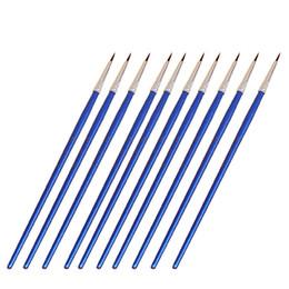 Тонкая ручная роспись тонкий крюк линия ручка синий жезл художественные принадлежности рисунок перо краска кисть нейлон кисть живопись Pen 10 шт. / компл. от