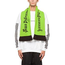 Regali russi online-18FW Gosha Rubchinskiy sciarpa di lana calda sciarpa a maglia russo donna uomo unisex inverno accessori formato libero regalo di festival HFYTWJ006