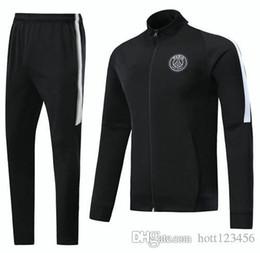Wholesale Paris Kids - 2017 2018 Paris survetement football jacket tracksuits 17 18 CAVANI MBAPPE Verratti Long pants wear Neymar JR kids training suit jacket kit
