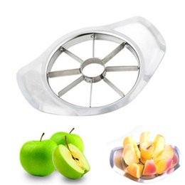 Wholesale processing metal - 304 Stainless Steel Apple Cutter Vegetable Fruit Knife Slicer Cutting Corer Kitchen Cooking Tools Processing Kitchen Slicing Knives