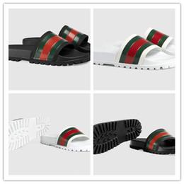 pantoufles de mode chaussures homme nouveau Promotion AVEC BOX Brand New Summer confortable Mode mens plat slide casual sandals pour femmes Pantoufles hommes chaussures pantoufles