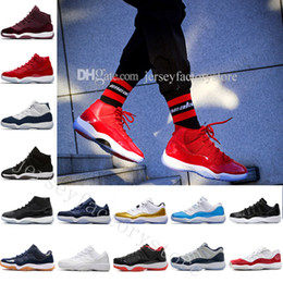 "Wholesale Girls Rhinestone Shoes - With Box + Number ""45"" ""23"" New 11 Spaces Jams Basketball Shoes for Top quality s 11s Athletic Sports Sneakers Girl big boy shoes US 5.5-13"