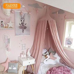 Wholesale Lotus Bedding - CLOVER LANGUAGE Children's Room Dome Bed Tent Lotus Root 10 Colors Domes Play Tent Bed Curtain Net Baby Room Home Decoration