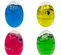 Argentina Huevo de bricolaje Crystal Slime Mud novedad Magic Egg Tricky Toy Gudetama antiestrés huevos de barro Diversión juguetes para niños o adultos regalo Suministro