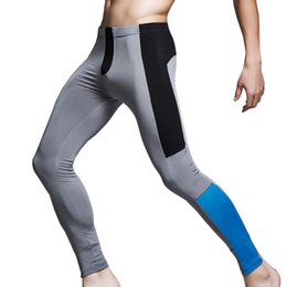 Wholesale Thermal Fashion Leggings - Fashion Winter Warm Men Keep Warm Thermal Underwear Sexy Long Pants Leggings Man Tight Spandex Sweat Pants