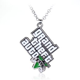Wholesale grand games - SG Fashion Classic Game Jewelry GTA Necklace Grand Theft Auto Pendant Necklace For Men Fans Gift