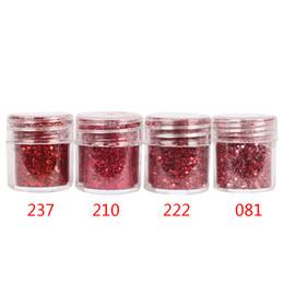 2019 miscela di vino rosso Polvere di glitter per unghie mix di colori rosso vino con paillettes paillettes 1mm per la decorazione di arte del chiodo sconti miscela di vino rosso