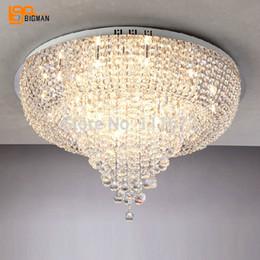 Wholesale Luxury Lighting Fixtures - new Luxury Living Room Ceiling Lamp crystal Fixture lustre K9 Crystal Lighting diameter 80cm