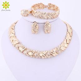 nigerianische hochzeit perlen design Rabatt Ganze sale2017 Mode Dubai Gold Farbe Schmuck Sets Kostüm Große Design Gold Farbe Nigerianischen Hochzeits Afrikanische Perlen Schmuck Sets