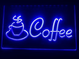 Sinais conduzidos café on-line-I433b- Café Cup Shop Cappuccino Café LED Neon Light Sign