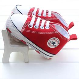 meias de borracha de borracha atacado Desconto Hotsale Primavera e No Outono Do Bebê Meninas Meninos Sapatos Recém-nascidos Lona Clássico Casual Lace-UP Sports Anti-slip Prewalkers Infantis