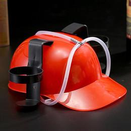 chapeau de paille noir réglable Promotion Soda à la bière peut être titulaire de paille potable potable casque dur noir
