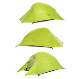 Кемпинговая палатка онлайн-Naturehike CloudUp Series Ultralight Tents Outdoor Camping Hiking Tent 20D Fabric For 2 Person With Mat NH15T002-T