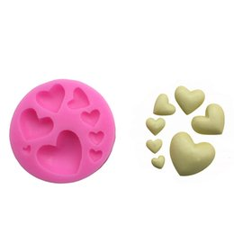 Wholesale Fimo Polymer Clay - Cake Mold Hearts Silicone Mold for Fondant Chocolate Cookie Soap Fimo Polymer Clay Resin Cake Decoration