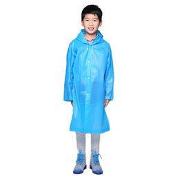 Wholesale waterproof clothes for kids - Waterproof Raincoat Kids Boys Girls Cute Impermeable Para Lluvia Raincoat For Children Rainwear Fabric Clothing QQG324