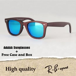 Wholesale Vintage Glasses Round - AAAAA+ Top quality Polarized lens Metal hinge Brand Designer Sunglasses Men Women Plank frame Sport Vintage glasses With cases and box