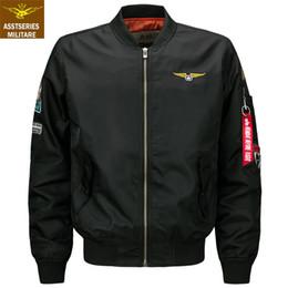 Wholesale jaqueta baseball masculina - Brand Military bomber jacket men baseball jacket Men Streetwear Army Pilot Air Force Tactical jaqueta masculina plus size